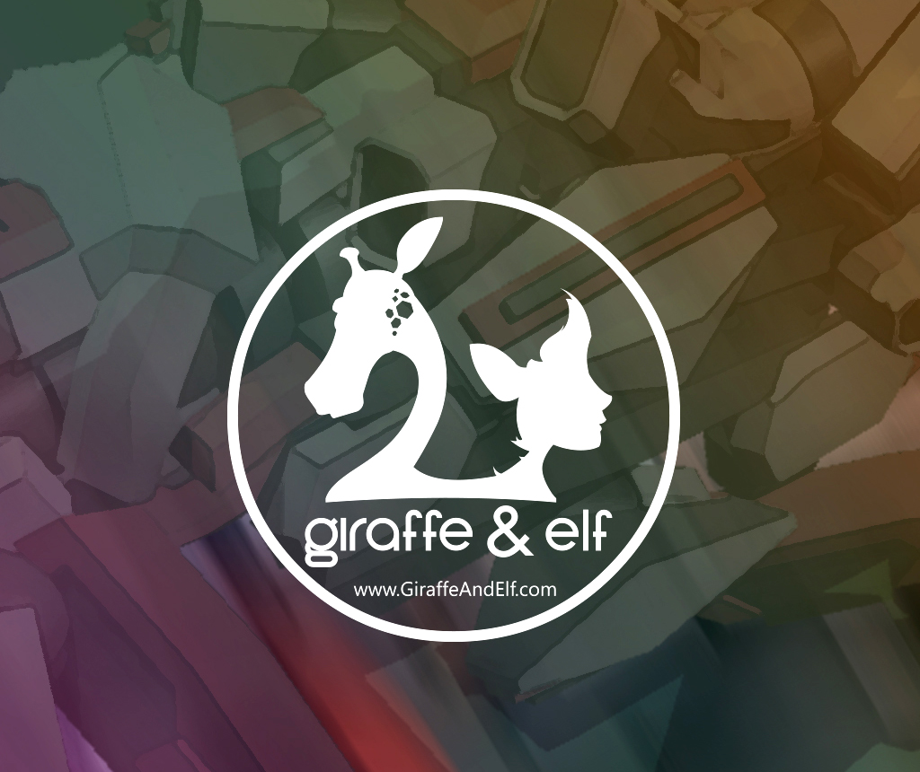 Giraffe and Elf Design Logo