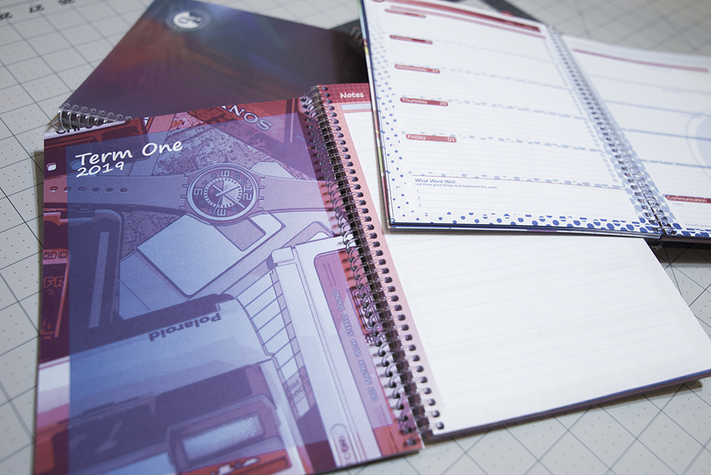college study planner inside page examples