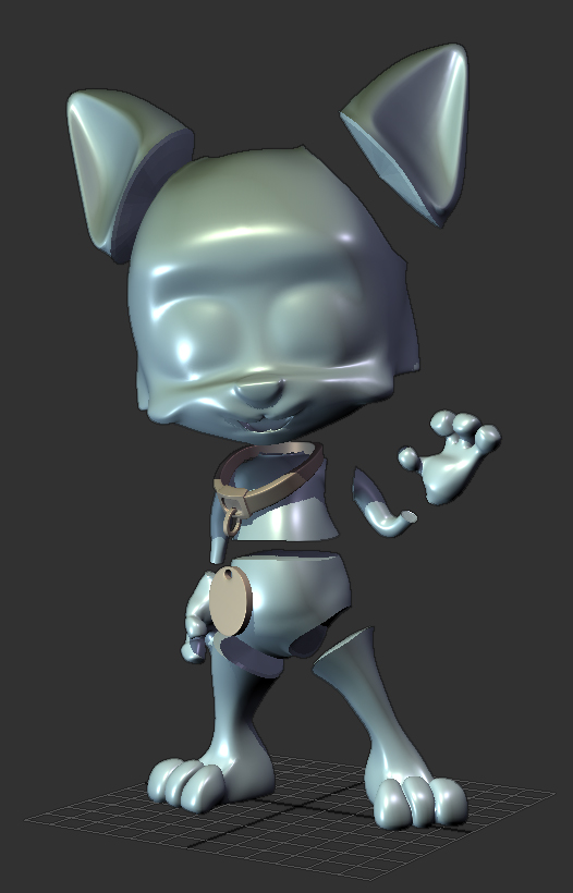 Hyop Neko 3D model rapid prototype parts seperation