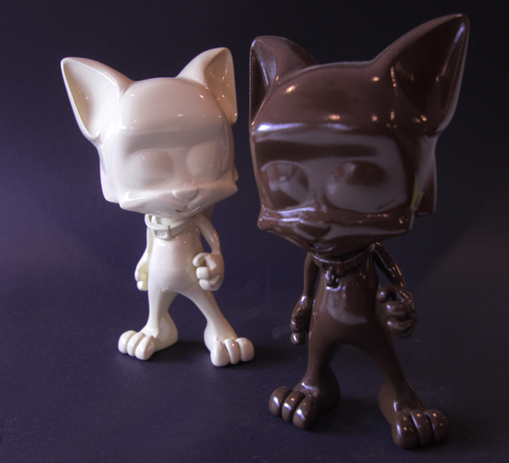 hyoneko cats prototype models gloss coat chocolate and vanilla